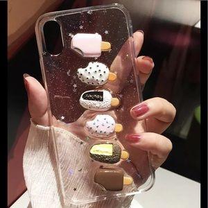 Transparent 3D Ice Cream iPhone Case 6 6s 7 8 X